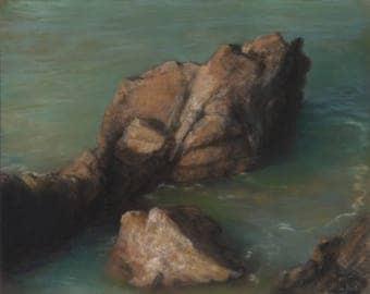 """Original pastel landscape (ref 140524) : """"Emergence"""""""