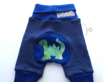 Recycled Dinosaur Merino Wool Shorties Jecaloones - Size Small Shorts
