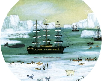 Sailors Valentine Center, ART for Designers Crafters ~ Arctic Explorers ~ JL. Munro
