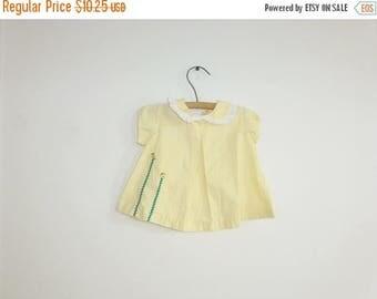 SALE // Vintage Yellow Swing Top
