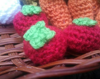 Cherry Tomatoes - crochet tomatoes amigurumi tomato toy food play food toy tomatoes miniature tomatoes crochet vegetables