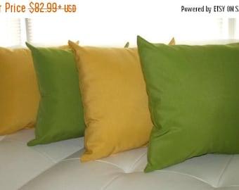 Green Outdoor Pillow - Richloom Solar Kiwi & Richloom Solar Buttercup Outdoor Throw Pillow Free Shipping