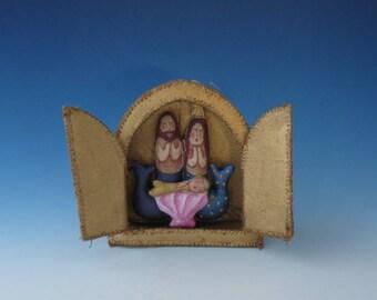 Mermaid Nativity , Nativity Ornament, Nativity Diorama, Nativity Ornaments, Nativity Ornament Diorama