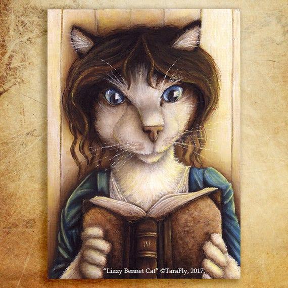 Lizzy Bennet Cat Fine Art Print