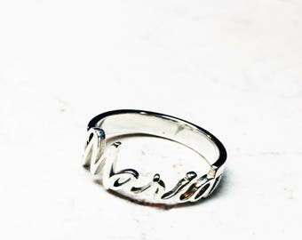 Steel or Sterling Silver Personalized Ring - Made to Order