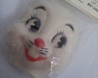 Vintage Plastic Rabbit Face Mask Heads