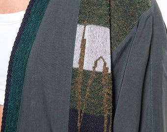 40% SUMMER SALE The Vintage Silk Forest Green Wrap Cardigan