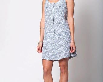 40% SUMMER SALE The Summer Blue Floral Print Dress