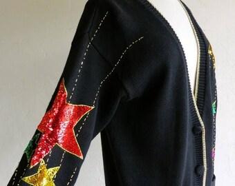 40% OFF CLEARANCE SALE Sequin Star Avante Garde Sweater