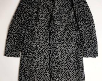 Baby Cheetah Print Wool Coat