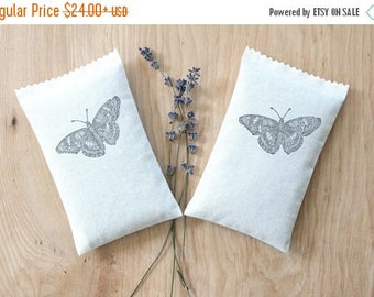 SALE Butterflies in Flight Lavender Sachets, Scented Drawer Sachets for Minimalist Nature Decor