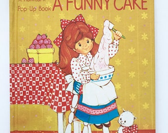 Vintage Pop-Up Book Cindy Bakes a Funny Cake Hallmark Children's Edition