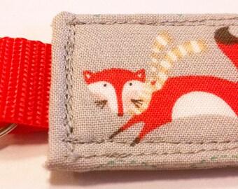 Fabric Orange Fox Keychain