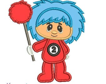 Thing 2 Embroidery Designs Applique,thing 2, thing 2 embroidery design