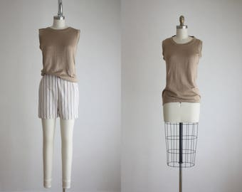 knit silk blouse