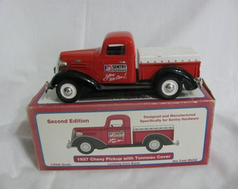 1937 Chevy Pickup with Tonneau Cover Die Cast Bank with Key