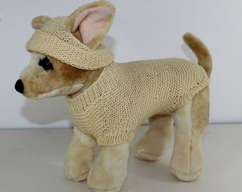 madmonkeyknits - Small Dog  4 Ply Coat and Beanie Hat knitting pattern pdf download - Instant Digital File pdf knitting pattern