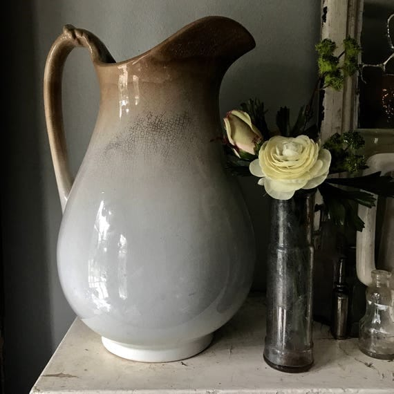 White Ironstone pitcher