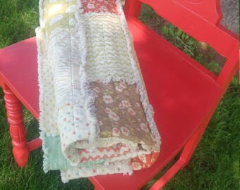 Rag Quilt Country Print Whimsy kids baby