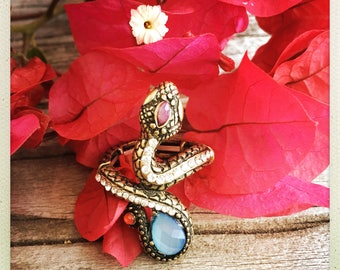 Snake jeweled ring