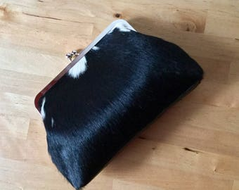 Leather clutch purse, small leather bag, key holder case, small leather purse, gift for women