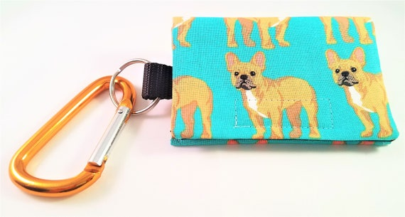 Bag Buddy - Poo Bag Holder / Dog Mess Carrier / Poop Bag Pouch / Leash Purse / Leash Pouch / Pet Waste / French Bulldog / Frenchie / Pug