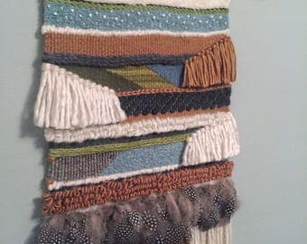 Feathered Woven Wall Hanging