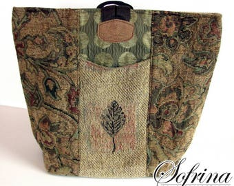 Boho Market Bag | Brown, Beige, Green, Red, Aquamarine | Eco Friendly | Repurposed | Made in the USA | Birthday Gifts for Her | Day Backpack