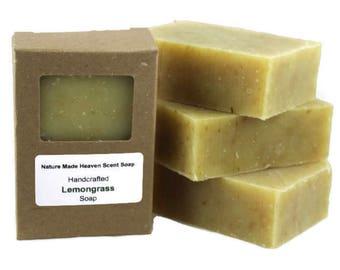 Lemongrass Soap 5.5 Oz. All Natural Bar Soap, Cold Process, Handmade
