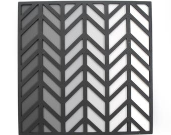 black, grey & white CHEVRON art- made from paint swatches, modern decor, interior design, muted colors, colorful, unique, gorgeous, gradient