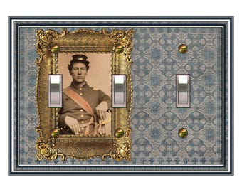 NEW - 0669X -  Civil War Soldier Design - Mrs Butler Unique switch platesswitch plate cover