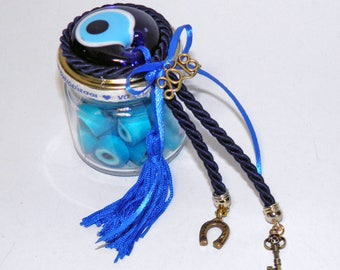 50 grams Evil Eye Handmade Candies - 2018 Good Luck Jar - 2018 Favors - Greek candies mint taste