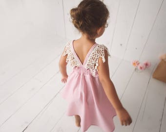 Photoshoot dress, Family photo dress, Flower Girl, Special occasion dress, Toddler Girl Dress by bitty bambu