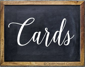 Wedding Cards Decal | Wedding Card Box | Wedding Decals | Wedding Decor | DIY Wedding | Wedding Signs WS0001