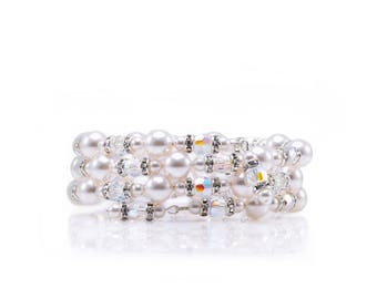 Swarovski Elements wrap bracelet