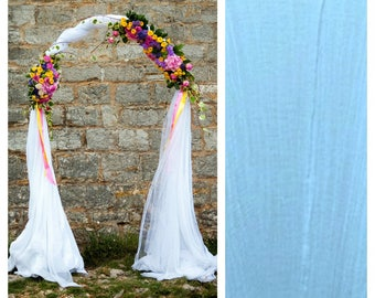 Wedding Arch Scarf, Swag, Garland Indoor or Outdoor White Extra Wide Photography Prop