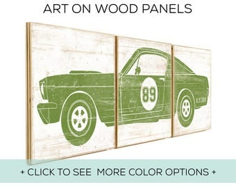 Our Classic Car Wall Art is Customizable and Perfect for Race Car Bedroom Decor - Car Design #2