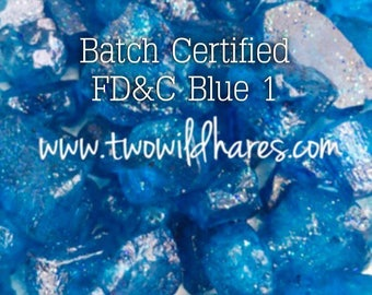 ELECTRIC BLUE Batch Certified FD&C Blue 1, 86% Pure Dye, Cosmetic Powdered Water Colorant, 1oz