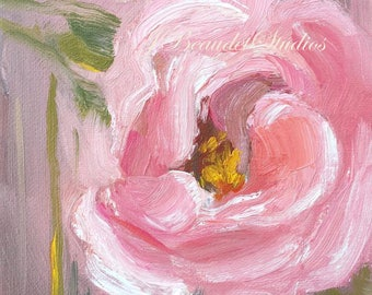 Original Oil Painting,flowers, floral art, peach, peonies, peony,oil painting, square, small format