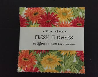 Moda Fresh Flowers by Deb Strain Fabric Charm Pack