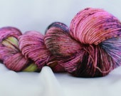 MUST HAVE Speckled hand dyed super wash merino single sock (100 grams) 400 yds