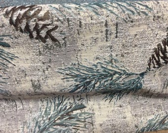 pinecone tapestry print fabric
