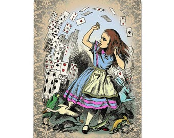 Alice in wonderland themed playing cards, full deck