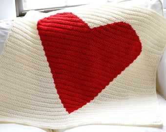 Big Heart Blanket - PDF Crochet Pattern - Instant Download