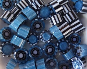 COE 90 Inky Pop Murrini by Lori and Kim