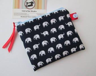 Elelphants  Credit Card/Coin Purse