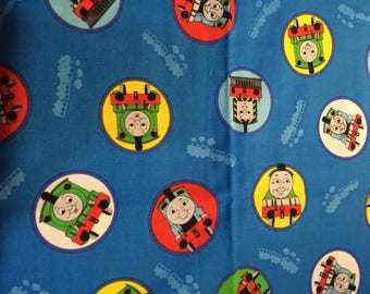 "One yard ""Cars Crew of Red Line"" and ""Thomas the Tank Engine and Friends""  1 yard fabric pack"