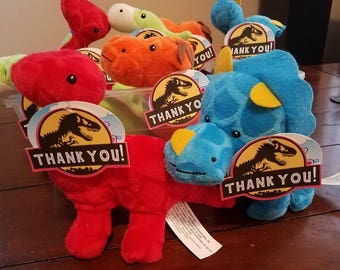 Printable Jurassic Park Thank You Tags for Party Favors , Instant Download Jurassic Park Favors