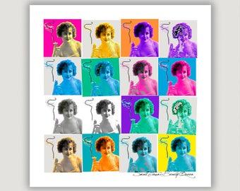 Smoking Art Print, Small Town Beauty Queen, digital collage, cigarette art, quit smoking, anti smoking, lung cancer, emphysema, abstract art