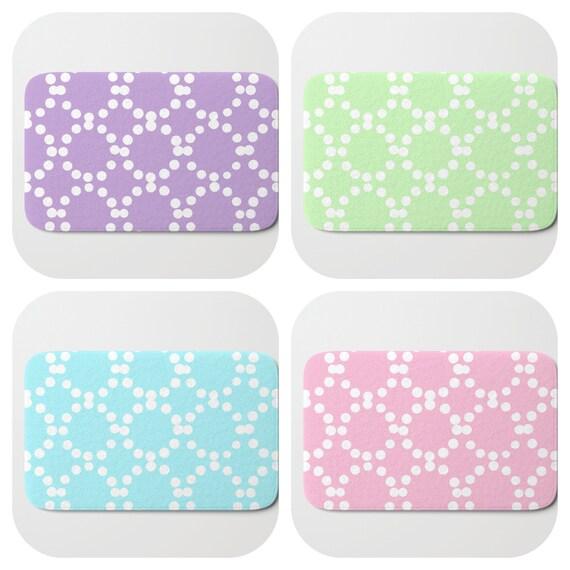 Bath Mat - Aqua Bath Mat - Pink Bath Mat - Bath Rug - Lavender Shower Mat - Ring dot Rug - Mint Green Rug - Circle Rug - Pastel bath Rug